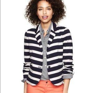 GAP Academy Preppy Navy & White Stripe Blazer